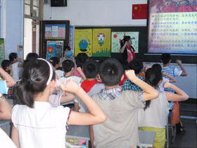 Environmental education program at an elementary school in Fuzhou, in May 2013
