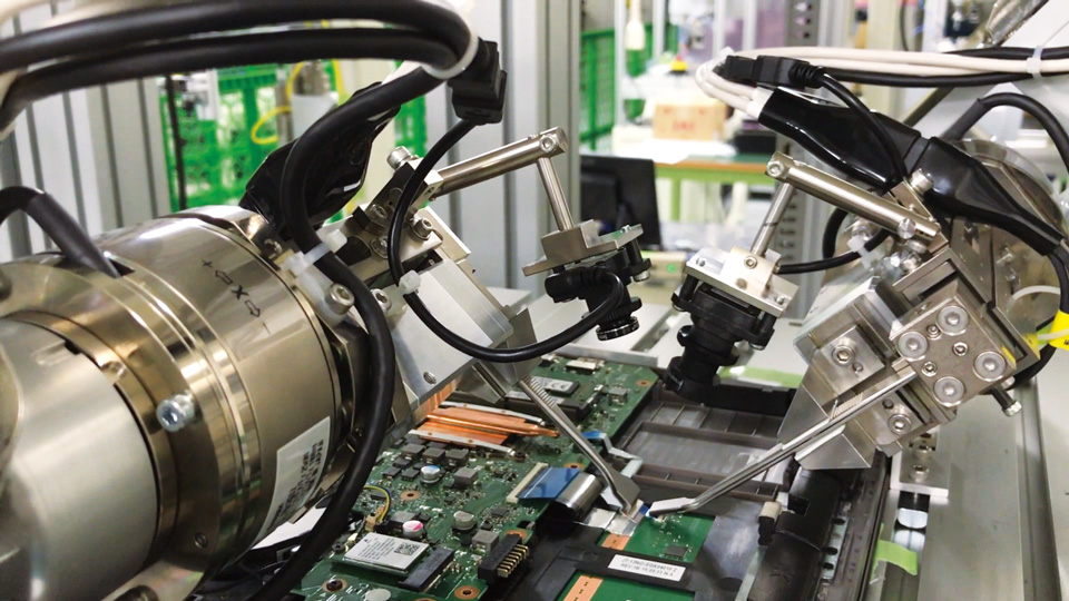 force sensor installed in a robot